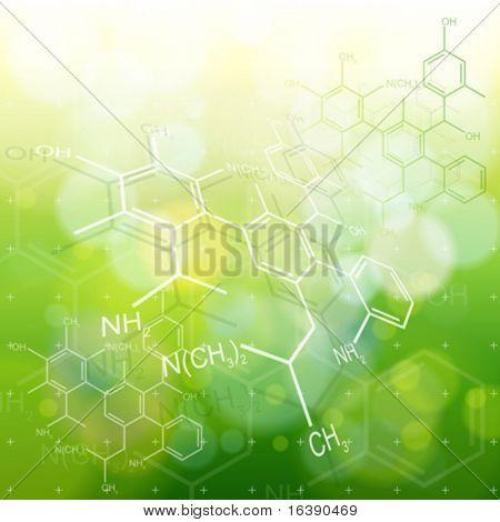 Ökologie-Hintergrund: chemische Formeln
