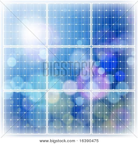 cielo de energía solar panel & azul