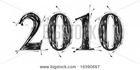 2010 - grunge hand draw paint symbols