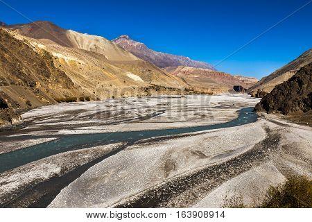 Kali Gandaki river, Mustang region, Himalayas Nepal
