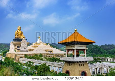 View of Fo Guang Shan Buddha statue with nature