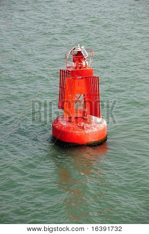 Port Side Red Marker Buoy.