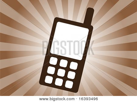 vector background with cell phone