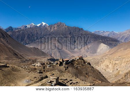 View on the Jharkot village in lower Mustang, Nepal.