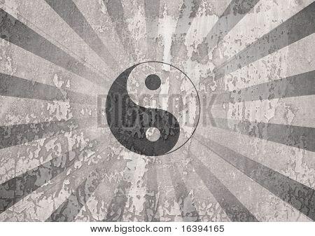 cracked yin yang symbol