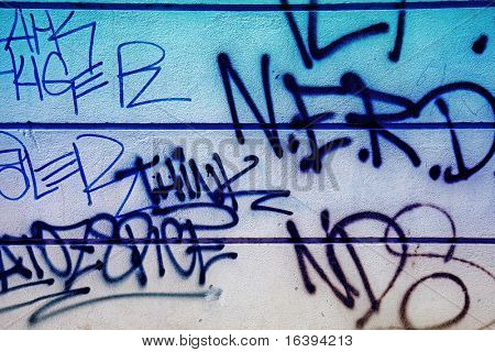 the old grunge graffiti wall