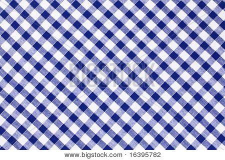 el mantel de cuadros azul