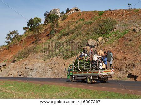 Afrikanische Straßenverkehr