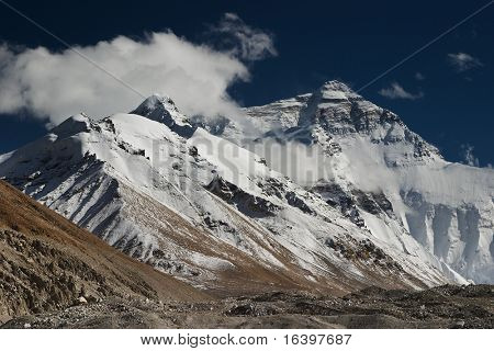 Everest, view from Tibet.