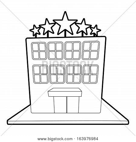 Hotel five stars icon. Outline illustration of hotel five stars vector icon for web