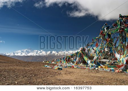 Phang La pass in Tibet