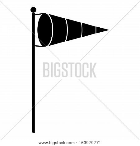 Wind vane icon. Simple illustration of wind vane vector icon for web