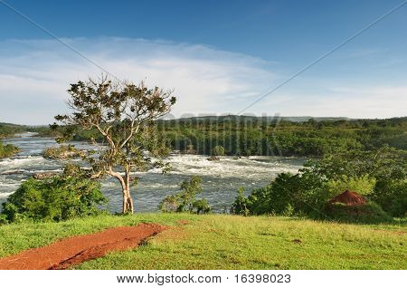 Superior del río Nilo en Uganda