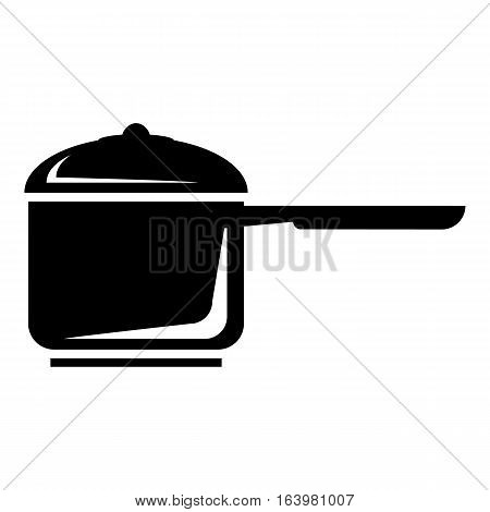 Pan with handle icon. Simple illustration of pan with handle vector icon for web