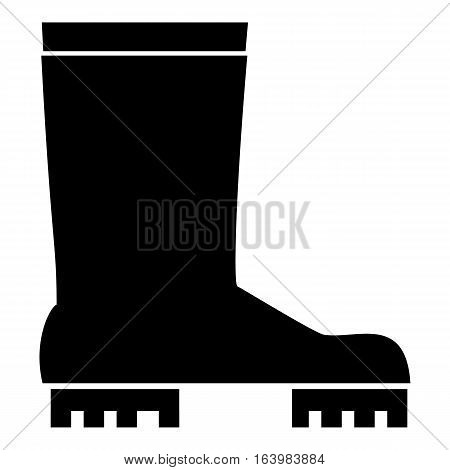 Rubber boots icon. Simple illustration of rubber boots vector icon for web