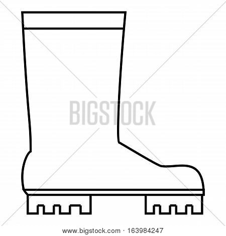 Rubber boots icon. Outline illustration of rubber boots vector icon for web