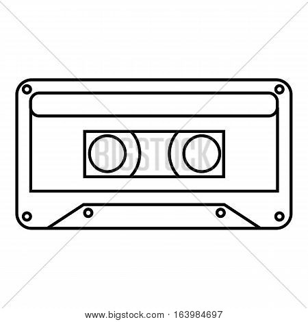 Audio cassette icon. Outline illustration of audio cassette vector icon for web