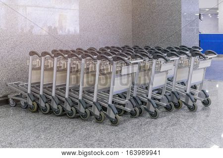Trolley For Luggage Or Baggage In The Airports