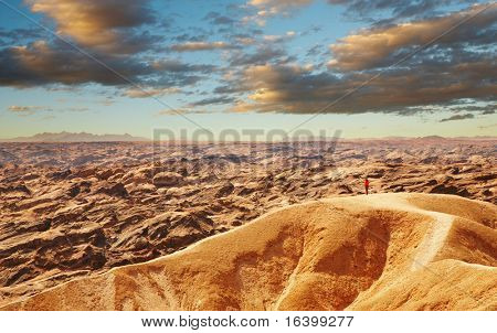 Extraordinary Moon Landscape in Namib Desert near Swakopmund, Namibia