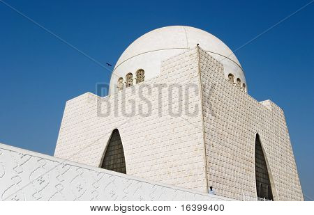 Mazar-e-Quaid- mausoleum of the founder of Pakistan, Muhammad Ali Jinnah. Iconic symbol of Karachi throughout the world