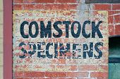 Virginia City Nevada Weathered Sign poster