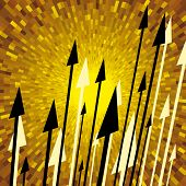 pic of hoplite  - Vector spears with yellow shine background - JPG