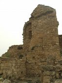 Ruins Of An Ancient Historical  Building Or Tower poster