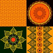 stock photo of rangoli  - Indian art inspired - JPG