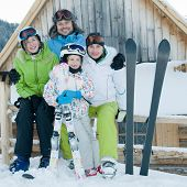 foto of family ski vacation  - Family ski team - JPG