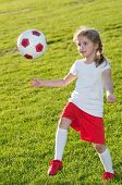 stock photo of little-league  - Little soccer player - JPG