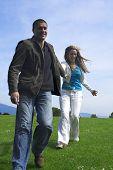 Happy Couple Outdoor Running poster