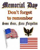 Постер, плакат: День памяти картинки и текст