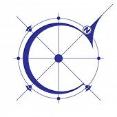stock photo of wind vanes  - Wind rose - JPG