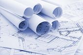 rolls of architecture blueprints