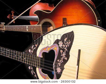 viola, guitar and bouzouki