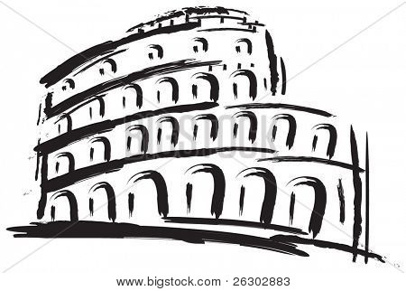 Colosseum. Vector illustration.