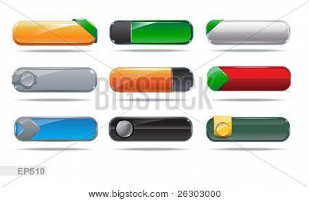 Colección de botones de Web. Botones en blanco. EPS10