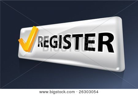 Vector button. Register.