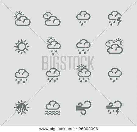Vector weather forecast pictogram set. Part 1
