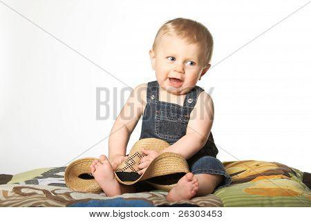 Boy With Straw Hat