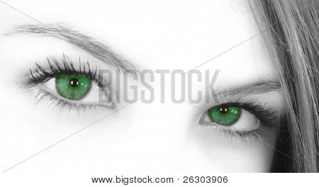 grüne Augen oberen Gesicht