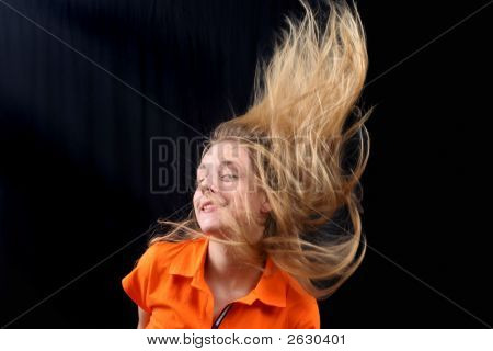 Fluing  Hair - Young Girl