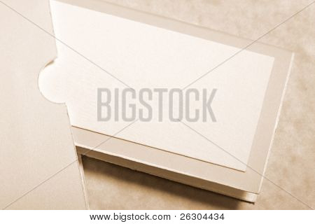 seating placement card in complimentary envelope