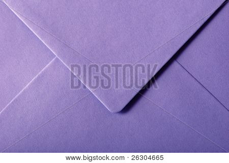 purple  envelope with textured paper
