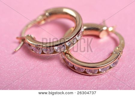 gold and diamond earring set