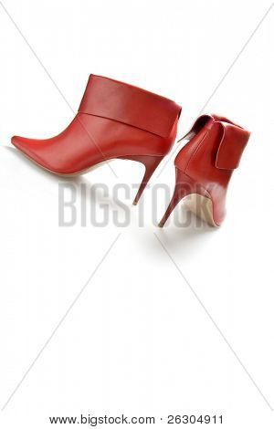 red high heeled sexy boots