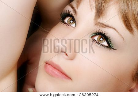 beautiful teenage model with gorgeous eyes