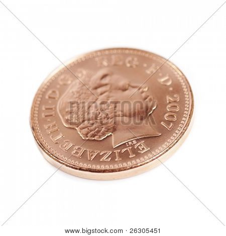 british 2007 one pence piece coin
