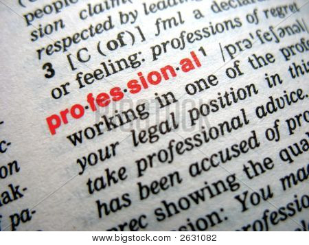 Definition Of Professional - Red