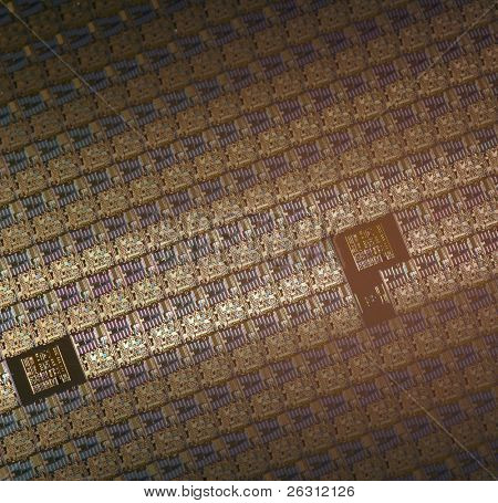 Macro of silikon microchips